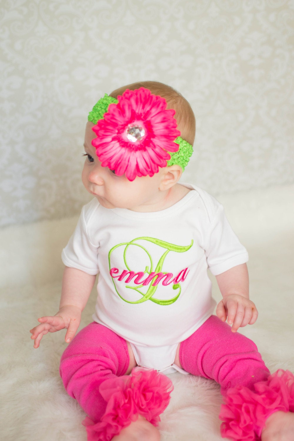 Monogram Baby Girl Clothes Personalized Bodysuit With by