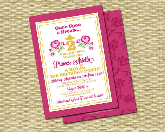 Product Search Sleeping Beauty – Sleeping Beauty Party Invitations