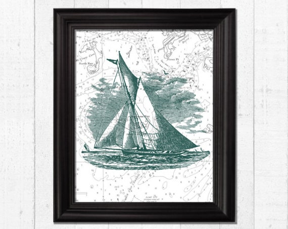 Vintage Wall Decor Nursery : Nautical wall decor nursery art