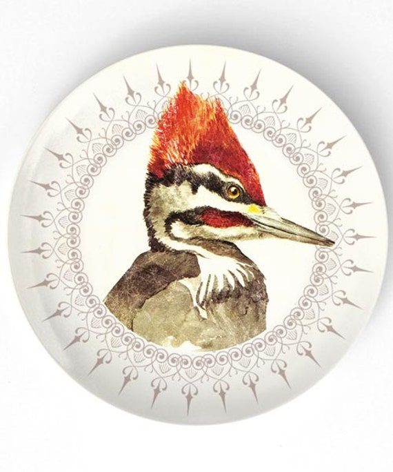 woodpecker no.1 melamine plate