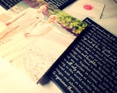 Set of 3, Your Wedding Vows or Song Lyrics on canvas, personalized Anniversary gift, Canvas Photo Art