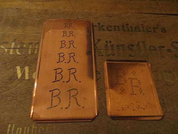 2 Monogram Stencils br / rb