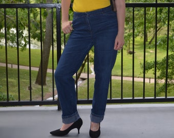 High Waisted Jeans, Women's Blue Jeans 0, Ladies's Blue Jeans 4, Jones Sport Vintage Jeans, High Waisted Denim, Hipster, BOHO