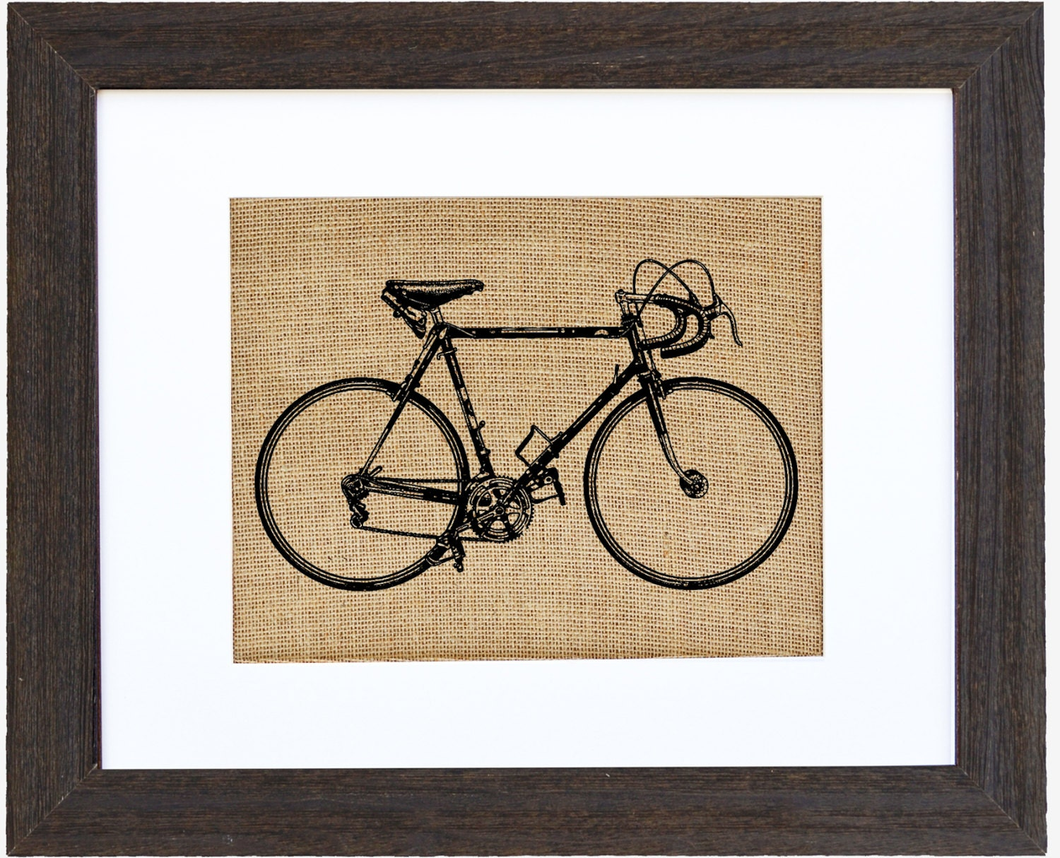 Bicycle Burlap Wall Art Racing Bike Cycling Wall Art Burlap