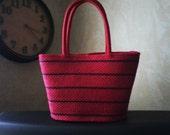 Red Basket Purse