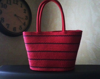 Red Basket Purse