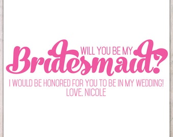Will you be in my wedding - pink