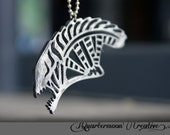 Lasercut Necklace, Acrylic, Alien XenoMorph, Pendant Necklace, Horror, Monster, HR Giger, Metallic,