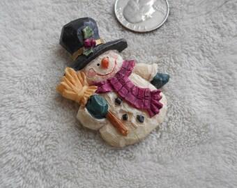 Vtg Pin-Christmas -Winter Snowman-P3820