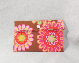 Bright Floral Fabric Pouch