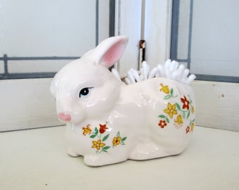 Little Easter Bunny Rabbit Planter Shabby Cottage Chic