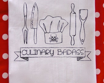 Funny Kitchen Towels- Culinary Badass