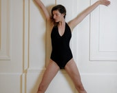Black leotard for Bikram yoga