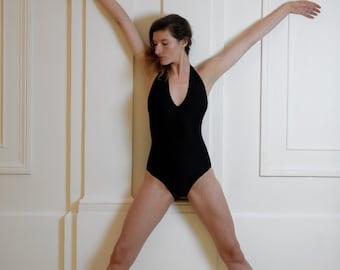 Black leotard for Bikram yoga