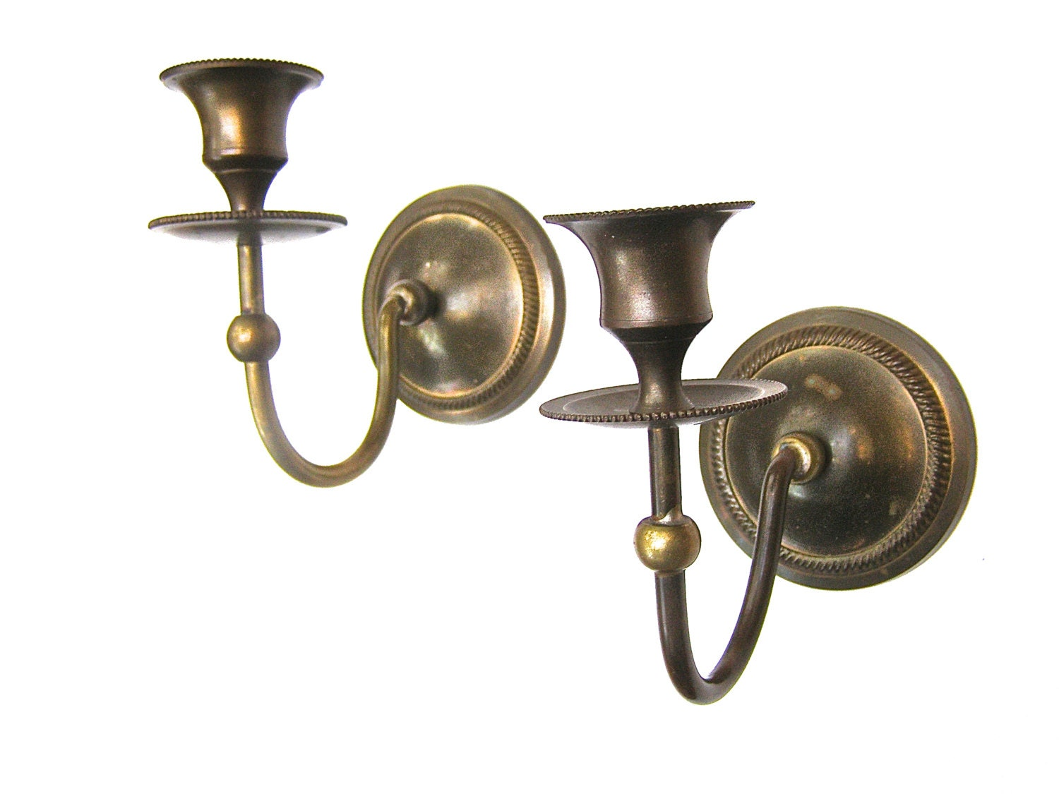 Bronze Wall Sconces For Candles : Wall Candle Sconces Bronze Wall Candle by FunkAndMoreVintage
