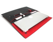 "New Macbook 12""/ Macbook Air 11 inch Case / Macbook Air 13 inch/ MacbookPro Case/ MacBookPro 13""/15""- Case Organiser -Graffiti Black & Red"