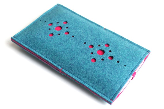iPhone 6S Case/ iPhone 6s Plus Case/ iPhone 4/4S/5/5S/5C Sleeve/ Samsung/ Nexus/ HTC/ One+One- Fusion- Teal Blue & Hot Pink