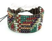 Multi color stone wrap bracelet.