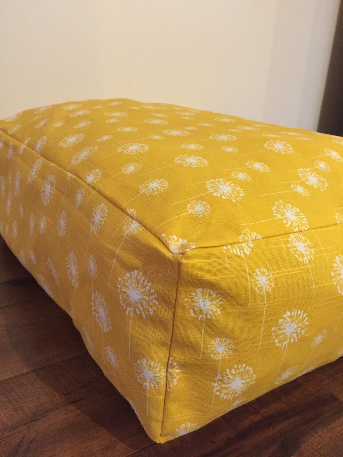 Large Floor Pillow Bean Bag Dandelion Pattern With Zipper