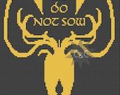 Game of Thrones Greyjoy House sigil counted cross stitch printable PDF pattern