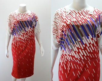 PLUS SIZE Vintage Dress - 50 Inch Bust - R Attal Made in France
