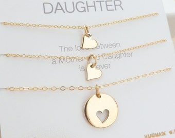 Mother Daughter Necklace - Mother Daughter Jewelry - Mother Daughter Gift - Delicate Necklace - Delicate Jewelry - Two Daughters // GOLD