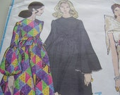 Vintage 1960's, 70's Vogue 2218 Basic Design Dress, Pants and Scarf Sewing Pattern, Size 10, Bust 32 1/2