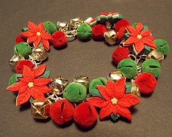 Jingle Bell Poinsettia Bracelet