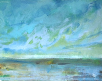 In the Afternoon Coastal Landscape Impressionist Painting (Part 3) -- Fine Art Print