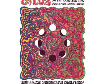 La Luz concert poster by Nathaniel Deas