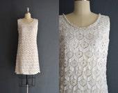reserved ..... Blanche / short wedding dress / 60s dress