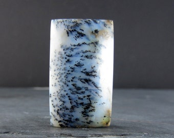 Large rectangular Dendritic agate  cabochon, gemstone, natural cabochon , jewelry making supplies B4720