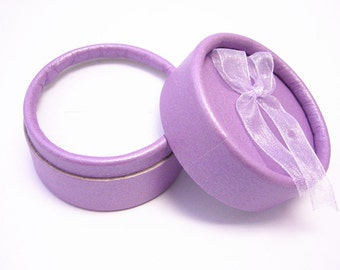 2pc purple color ring paper gift boxes-Q19