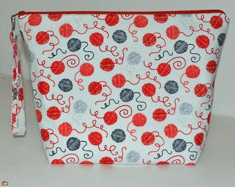 Balls of Yarn print project bag