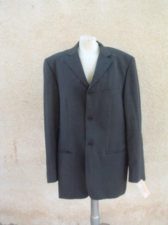VAN DIKE wool jacket grey color never been worn circa 1993 made in England