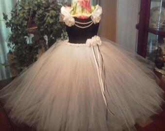 Sz 3 to 4 tutu dress shown in black white