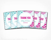 Thank You Tags - Floral PRINTABLE Favor Tag Labels Stickers - Spring Wedding Bridal Shower Baby Shower Garden Party Favors