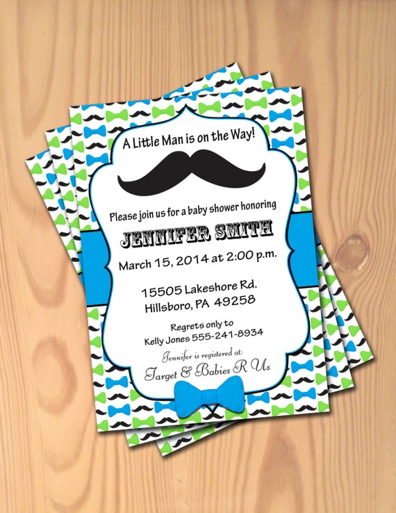 baby shower invitations little man mustache bowtie invites baby