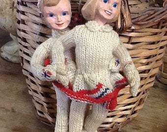 Vintage Ice Skating Dolls