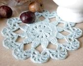 Light blue crochet doily Small crochet doilie Lace doilies Handmade crocheted doily Crochet table decoration Round lace doilies Flower doily