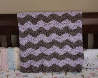 Chevron Crochet Baby Blanket - Baby Shower Gift - Crochet Baby Blanket - Chevron Baby Blanket