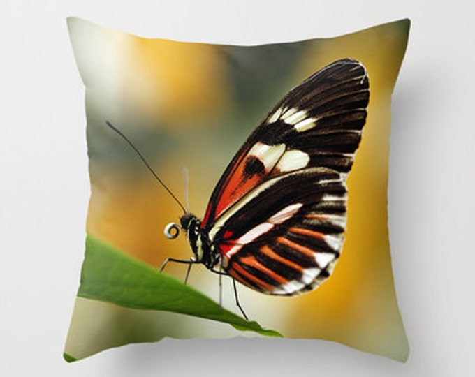 Heliconius Butterfly Photo Throw Pillow, Photo Pillow, Throw Pillow, Butterfly Pillow, Photography