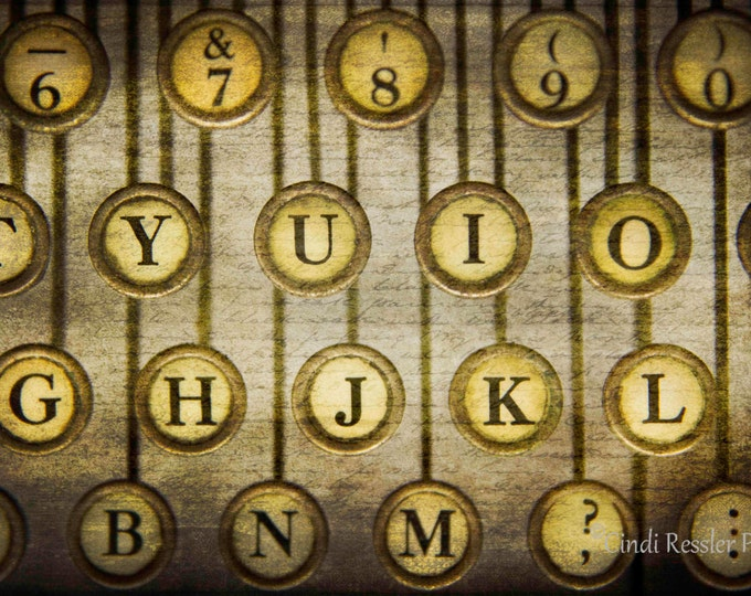 Typewriter Keys, Photography, Still Life Photography, Abstract Photography