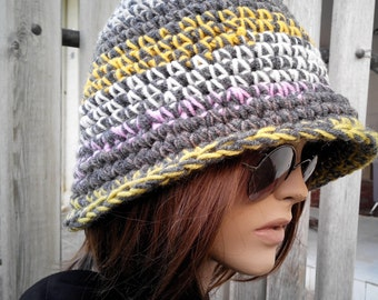 MIX COLOR Womens hat - chunky knit Slouchy mix colorHAT Beanie Slouch Hat Fall Winter