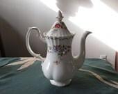 Royal Albert Jubilee Rose Coffee Pot, Mint Condition