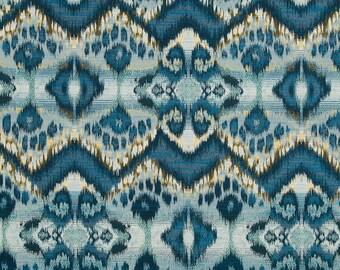 Home Decor Fabrics By The Yard home euro fabric contemporary home decor fabrics by the Peacock Blue Ikat Upholstery Fabric Heavyweight Denim Blue Fabric For Furniture Ikat Home Decor