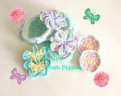 Hand Crocheted Baby Sandals with interchangeable decorations