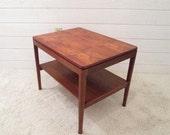 Mid Century Modern Drexel Teak Side End Coffee Table Vintage Kipp Stewart 1959