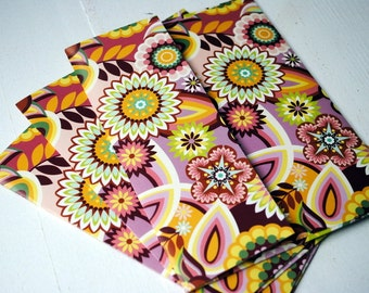 Bright Floral Patterned Set of 3 Handmade Envelopes by Paper Hearts Station on Etsy