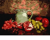 Needlepoint Kit or Canvas: Fruit With Pitcher